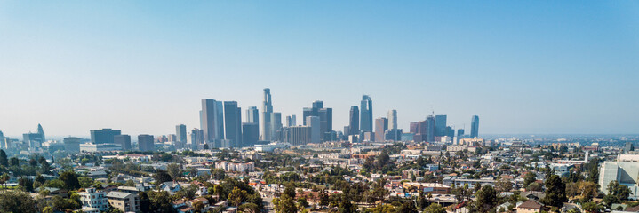 Fototapeta Los Angeles Drone View