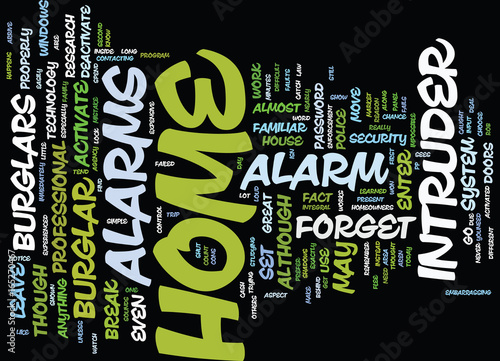 Fotografie, Obraz  THE CONS OF HOME INTRUDER ALARMS BROUGHT BY NICHEBLOWERCOM Text Background Word