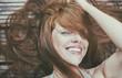 canvas print picture - schöne frau rote haare sommersprossen
