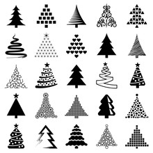 Christmas Tree Icon Collection...