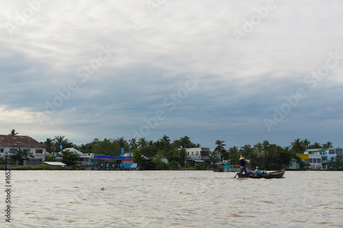 Riverside stilt houses in the Mekong Delta Fototapete