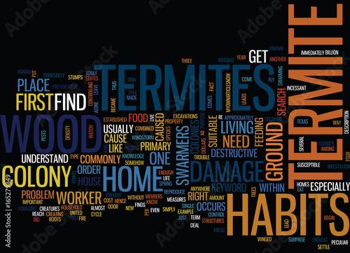 Fotografie, Obraz  TERMITE HABITS Text Background Word Cloud Concept