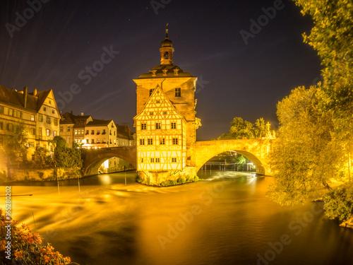 Zdjęcie XXL Ratusz Staromiejski Bamberg w nocy