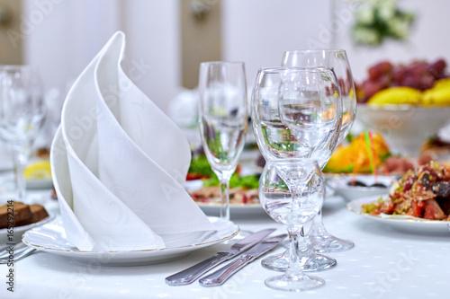 Leinwand Poster banquet in restaurant