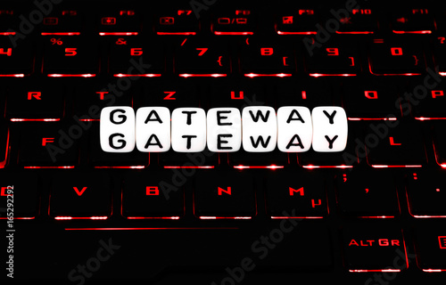 Gateway Symbol On Keyboard Buy This Stock Photo And Explore