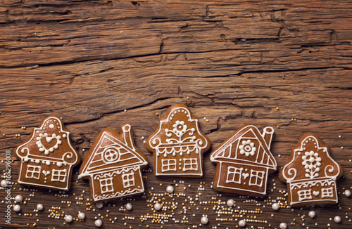 Gingerbread home cookies Canvas Print