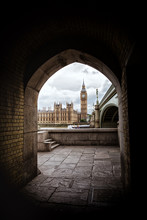 Houses Of Parliament Framed By An Archway