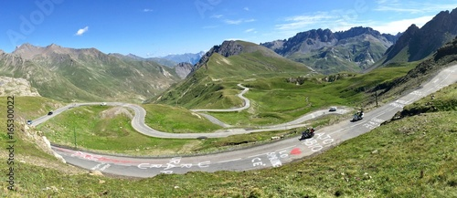 Vászonkép Col du Galibier après le passage du Tour de France 2017