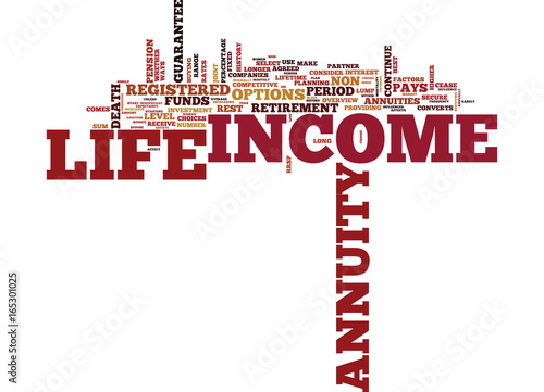 LIFE ANNUITIES OVERVIEW Text Background Word Cloud Concept Canvas Print