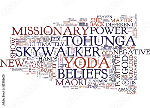 LESSONS OF A JEDI MASTER AND A MAORI SEER Text Background Word Cloud Concept Canvas Print