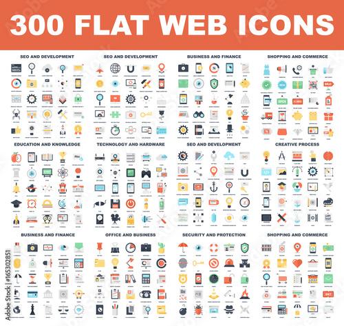 Flat Web Icons Wall mural