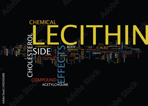 Fotografia, Obraz  LECITHIN SIDE EFFECTS Text Background Word Cloud Concept