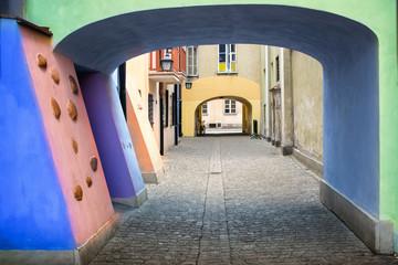 FototapetaWarsaw colorful street. Old town. Poland.