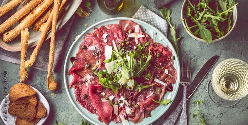 Recess Fitting Appetizer Rinder Carpaccio Teller