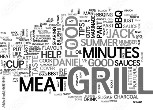Photo  JACK DANIEL S TIPS FOR THE SUMMER GRILL Text Background Word Cloud Concept