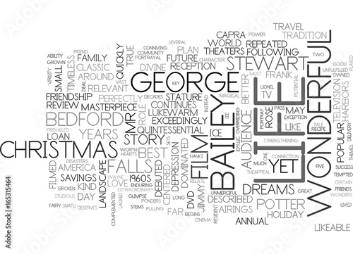 IT S A WONDERFUL LIFE DVD REVIEW Text Background Word Cloud Concept Poster
