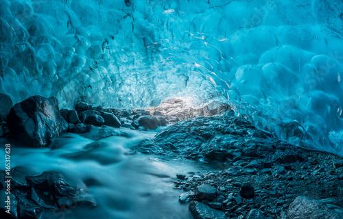 Foto auf AluDibond Insel Icecave, Island