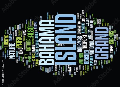Fotografía  GRAND BAHAMA ISLAND Text Background Word Cloud Concept