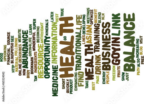 GOYIN BALANCE Text Background Word Cloud Concept - Buy this stock