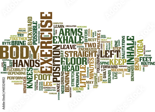 Photo GOT ONLY MINUTES TO EXERCISE THEN TRY THIS FROM YOGA Text Background Word Cloud