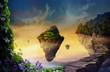 Leinwandbild Motiv Fantasy world with floating islands
