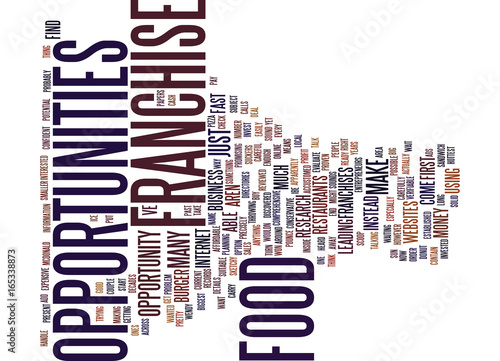 Fotografie, Obraz  FOOD FRANCHISE OPPORTUNITIES Text Background Word Cloud Concept