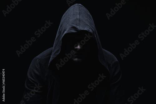 Fotomural Hooligan young man in hood