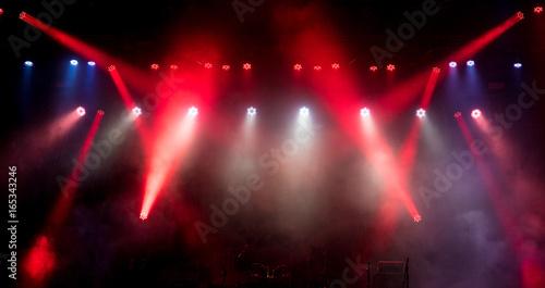 Obraz Light on an empty stage before the concert. - fototapety do salonu
