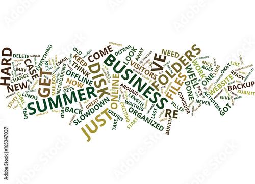 Staande foto Schilderingen FILLER ACTIVITIES FOR THE SUMMER BUSINESS SLOWDOWN Text Background Word Cloud Concept