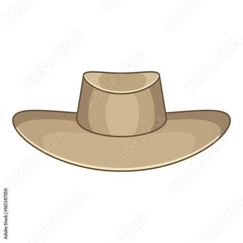 Photo Akubra icon, cartoon style