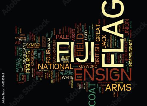 Fotografia, Obraz  FIJI FLAG Text Background Word Cloud Concept