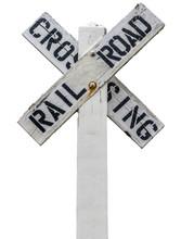 Rustic Railroad Crossing Sign