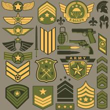Military Symbol Set, Army Patc...
