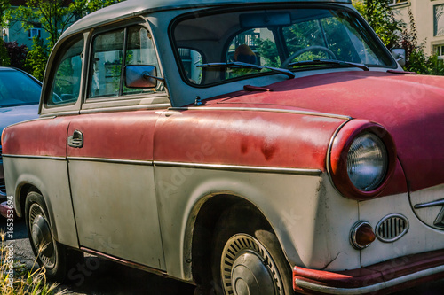 Poster Old cars Trabant