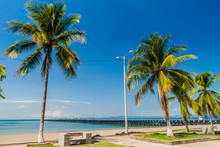 Pier And Palms In Puntarenas, Costa Rica