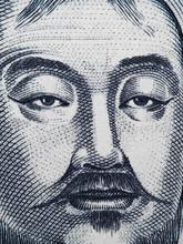 Genghis Khan Portrait On Mongo...