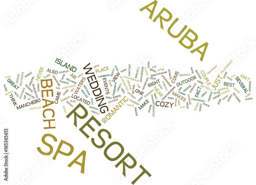 ARUBA RESORT AND SPA Text Background Word Cloud Concept