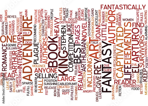 ARTURO EL REY BOOK REVIEW Text Background Word Cloud Concept Wallpaper Mural