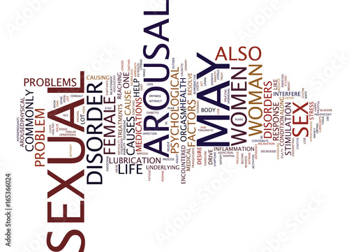 AROUSAL DISORDERS A CURSE TO ONE S SEX LIFE Text Background Word Cloud Concept Canvas Print