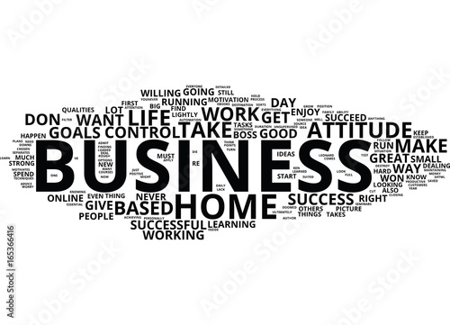 Photo  ARE YOU RIGHT FOR A HOME BASED BUSINESS Text Background Word Cloud Concept