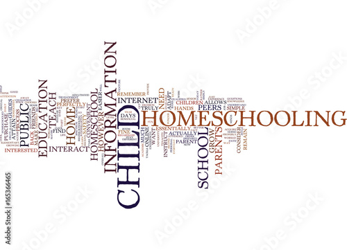 Vászonkép ARE YOU READY TO HOMESCHOOL YOUR CHILD YET Text Background Word Cloud Concept