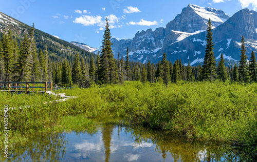 Spring Mountain A Close Up View Of Mount Gould Angel Wing And The
