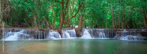 Deurstickers Watervallen Waterfall panoramic landscape in Thailand