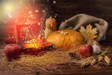 Thanksgiving Concept Of Pumpki...