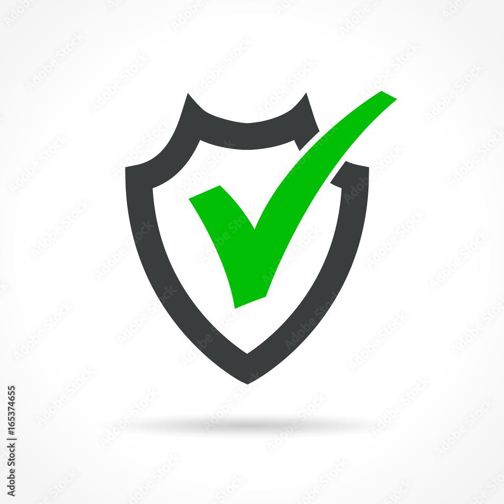 Fototapeta shield icon on white background