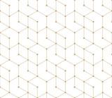 seamless geometric line grid vector hexagon pattern - 165376847