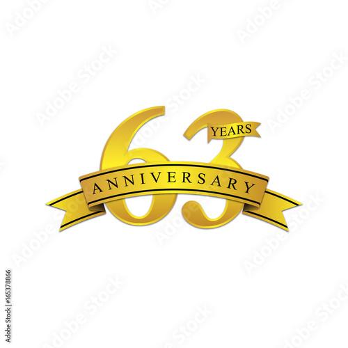 Tela  63 anniversary year gold