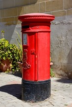 Traditional Red British Post B...