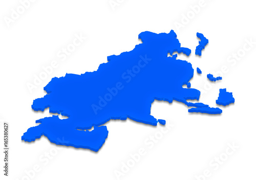 Map Of Asia 3d.Map Of Asia 3d Isometric Illustration Buy This Stock