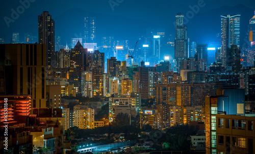 Fototapety, obrazy: Hong Kong Night scene